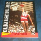 1992 KELLOGGS RAISAN BRAN COLLEGE BASKETBALL GREATS **SPUD WEBB** CARD