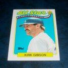 Topps 1988 NL Leaders **KIRK GIBSON** BASEBALL CARD
