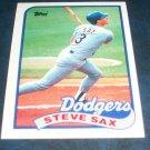Topps 1989  **STEVE SAX** BASEBALL CARD #40
