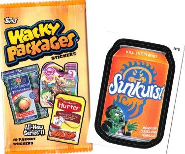 2013 WACKY PACKAGES ANS11 ***SUNKURST*** BONUS STICKER  B10