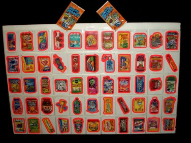 "2012 WACKY PACKAGES ANS9 COMPLETE ""PINK BORDER"" SET 55/55 NICE!! GREAT PRICE!!"