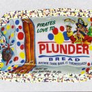 2011 WACKY PACKAGES ANS8 SILVER FLASH FOIL **PLUNDER BREAD** #27 NM