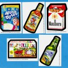 "2010 Wacky Packages Series6 L.E. Postcards Artist ""Bio Cards"" Complete 5/5 Set"