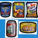 "2009 Wacky Packages Series4 L.E. Postcards Artist ""Bio Cards"" Complete 5/5 Set"