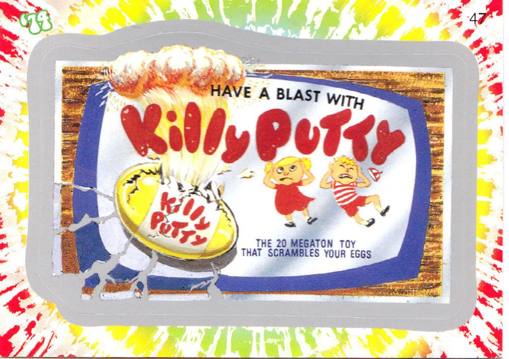 """WACKY PACKAGES FLASHBACK1 SILVER BORDER """"""""KILLY PUTTY"""""""" #47  NM"""