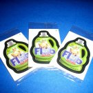 """WACKY PACKAGES ANS9 LOT OF THREE """"FLAB"""" BONUS STICKERS STILL IN CELLOPHANE WRAP!"""