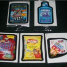 WACKY PACKAGES ANS8 COMPLETE BONUS CARD SET B1,B2,B3,B4,B5 ALL FIVE!!