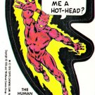 1976 MARVEL COMIC BOOK SUPER HEROES **THE HUMAN TORCH** STICKER CARD