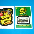 WACKY PACKAGES OLD SCHOOL 4TH SERIES BRAND NEW SERIES INSERT & OS5 PROMO BOTH!!