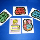 WACKY PACKAGES OLD SCHOOL3 COMPLETE SET SWEETAR PROMO & LOGO CARDS LUDLOW BACKS
