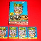 1991 DESERT STORM LOT OF 4 BRAND NEW PACKS  HTF!!