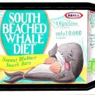 2007 WACKY PACKAGES ANS6 ***SOUTH BEACHED WHALE DIET*** BONUS STICKER  B5