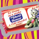 "WACKY PACKAGES FLASHBACK1 SILVER BORDER """"GHOUL HUMOR"""" #60  NM"