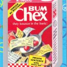 "WACKY PACKAGES FLASHBACK1 SILVER BORDER """"BUM CHEX"""" #17  NM"
