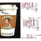"2017 Wacky Packages 50th Anniversary RED LUDLOW ""ARIANA GRANDE COFFEE"" 13/25"