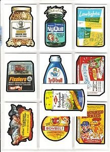 2017 Wacky Packages 50th Anniversary COMPLETE OLD SCHOOL SET 10/10 + WRAPPER