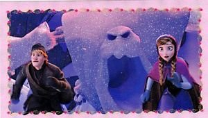 "PANINI DISNEY FROZEN STICKER ""ANNA & FRIENDS"" #134 GLITTER-  HARD TO FIND!"