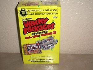 2005 WACKY PACKAGES ALL NEW SERIES 2 {ANS2} BONUS BOX W/11 PACKS & BONUS STICKER