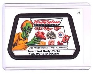"2015 WACKY PACKAGES SERIES 1 ""KRISPY SPLEEN"" #39 STICKER! NM"