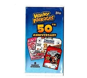 """2017 WACKY PACKAGES 50TH ANNIVERSARY SERIES """"PICK-A-SINGLE"""" STICKER CARD ONLY $1"""