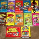 HUGE LOT OF WACKY PACKAGES ANS 1-7 & OLD SCHOOL 1,2,5 + 1986 & 1991 SEALED PACKS