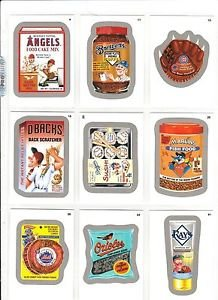 """2016 WACKY PACKAGES BASEBALL SERIES 1 SILVER BORDER """"PICK A SINGLE"""" ONLY $1.99"""