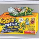 "2017 WACKY PACKAGES 50th ANNIVERSARY SILVER STICKER ""GROSSERY TRASHBAGS"" 7/50"