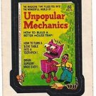 "1974 WACKY PACKAGES ORIGINAL 11th SERIES ""UNPOPULAR MECHANICS"" STICKER"