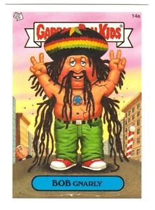 """2004 GARBAGE PAIL KIDS ALL NEW SERIES 3 {ANS3} """"BOB GNARLY"""" #14a STICKER CARD"""