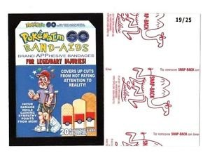 "2017 Wacky Packages 50th Anniversary RED LUDLOW ""POKEMAIM BAND-AIDS"" 19/25"