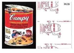 """2017 Wacky Packages 50th Anniversary RED LUDLOW """"CAMPY SOUP"""" 24/25"""