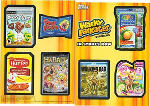 WACKY PACKAGES ANS11 Over Size Promo Card Wacky Packages Postcards NYC COMIC CON
