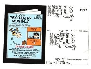 """2017 Wacky Packages 50th Anniversary BLACK LUDLOW """"LUCY'S PSYCHIATRY"""" 14/99"""