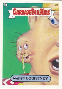 """2004 GARBAGE PAIL KIDS ALL NEW SERIES 2 """"WARTY COURTNEY"""" #21b"""