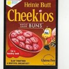 """2017 Wacky Packages 50th Anniversary OVERSIZE ART CARD """"CHEEKIOS CEREAL"""" #2"""