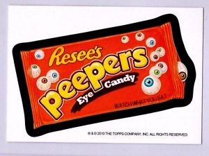 """2010 WACKY PACKAGES HALLOWEEN POSTCARD-PHILLY NON SPORTS CARD SHOW """"PEEPERS"""""""
