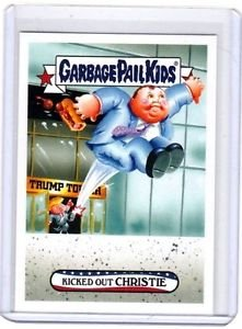"""2016 GARBAGE PAIL KIDS disg-RACE """"KICKED-OUT CHRISTIE"""" #81 LIMITED EDITION"""