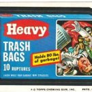 "1974 WACKY PACKAGES ORIGINAL 10TH SERIES ""HEAVY TRASH BAGS"" STICKER CARD"