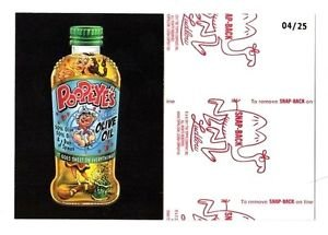 """2017 Wacky Packages 50th Anniversary RED LUDLOW """"POOPEYE'S OLIVE OIL"""" 04/25"""