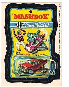 "1975 WACKY PACKAGES ORIGINAL 15TH SERIES ""MASHBOX"" STICKER CARD NM-"