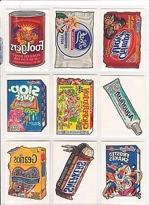 """2004 WACKY PACKAGES ALL NEW SERIES 1 {ANS1} COMPLETE """"TATTOO'S"""" SET 10/10"""