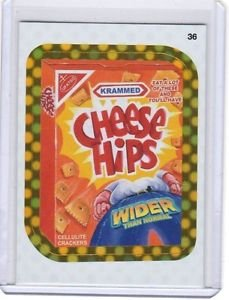 "2010 WACKY PACKAGES ALL NEW SERIES 9 {ANS9} GOLD BORDER ""CHEESE HIPS"" #36 RARE!"