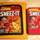 "WACKY PACKAGES ERASER SERIES 1 ""SNEEZ-IT"" ERASER & MATCHING STICKER #23 RARE"