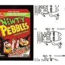 "2017 Wacky Packages 50th Anniversary BLACK LUDLOW ""NEWTY PEBBLES"" 77/99"