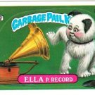 "1987 GARBAGE PAIL KIDS ORIGINAL 8TH SERIES ""ELLA P. RECORD"" #308b STICKER CARD"
