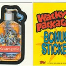 2006 WACKY PACKAGES ALL NEW SERIES 4 (ANS4) **NEUTROGENIE** BONUS STICKER B2
