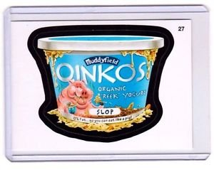 "2015 WACKY PACKAGES SERIES 1 ""OINKOS"" #27 STICKER! NM"