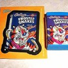 "WACKY PACKAGES ERASER SERIES 1 ""FROSTED SNAKES"" ERASER & MATCHING STICKER #10"