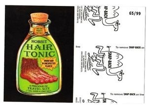 "2017 Wacky Packages 50th Anniversary BLACK LUDLOW ""HOBBIT HAIR TONIC"" 65/99"