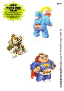 2013 GARBAGE PAIL KIDS BRAND NEW SERIES 3 (BNS3) STICKER SCENE CARD #5